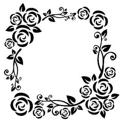 Floral frame - This will be great for the layered picture frame technique!