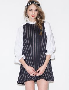 ella striped babydoll dress $65.00
