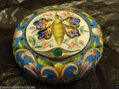 Antique Russian Silver Gilt and Shaded Cloisonne  and En Plein Enamel Snuff Box by Zverev | eBay