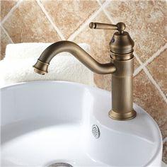 Einhand Centerset Badezimmer Waschtischarmatur Antik Messing