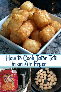 11 minutes · Cook up frozen tator tots to perfection in the air fryer! This is a quick and easy way to cook tator tots (or potato puffs or whatever brand you end up with! Air Fryer Recipes Potatoes, Air Fryer Oven Recipes, Air Fryer Dinner Recipes, Air Fryer Recipes Tater Tots, Recipes Dinner, Appetizer Recipes, Air Fryer Cooking Times, Cooks Air Fryer, Air Fryer Recipes Vegetarian