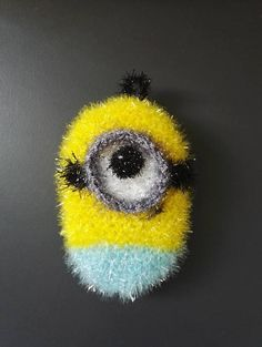 Crochet Scrubbies, Diy And Crafts, Arts And Crafts, Diy Crochet, Minions, Creative, Bubbles, Knitting, Couture