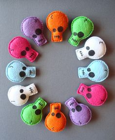 Felt Skull Pins by batzie09, via Flickr