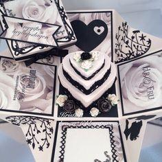 Kristinas kortblogg: Bryllupsboks med hjertekake