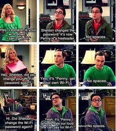 Penny gets free Wi-Fi. Big Bang Theory
