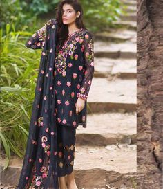 Mina Hasan Embroidered Chiffon Suits Collection 2016 Volume-2 MH_2