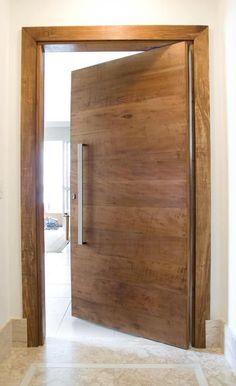 Flush Door Design, Double Door Design, Door Design Interior, Front Door Design, Modern Entrance Door, Modern Wooden Doors, Wooden Door Design, Entrance Doors, Bedroom False Ceiling Design