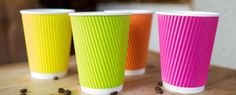 Rainbow Ripple Cups -12 oz- pack of 500