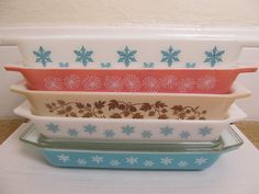 Vintage Pyrex Space Savers, via Flickr.