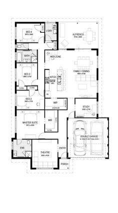 Floor Plan Friday: 4 bedroom with theatre, study nook