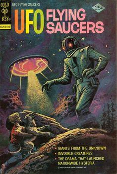 UFO Flying Saucers from Gold Key Comics series) Sci Fi Comics, Horror Comics, Conan Comics, Sci Fi Books, Comic Books Art, Science Fiction Art, Pulp Fiction, Ufo, Xmen