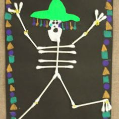 Skeletons kindergarten study anatomy pinterest a for Day of the dead arts and crafts