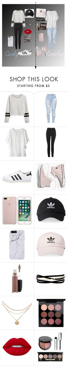 """SOPHIA IS AMAZING AND THE BEST BFF IN THE WORLD!❤️"" by unicarly13 ❤ liked on Polyvore featuring Avon, Topshop, adidas, Madewell, MAC Cosmetics, Kenneth Jay Lane, Lime Crime and Bobbi Brown Cosmetics"