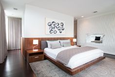 Memorial Park Modern - contemporary - bedroom - houston - Laura U, Inc.