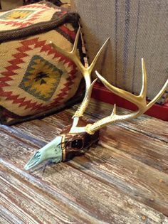 Bohemian Painted Deer Skull by WestWalnut on Etsy, $175.00