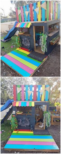 Outdoor Pallet Projects Pallet Playhouse for Kids Diy Furniture Made From Pallets, Diy Furniture Making, Diy Kids Furniture, Garden Furniture, Furniture Online, Furniture Projects, Furniture Plans, Luxury Furniture, Outdoor Furniture