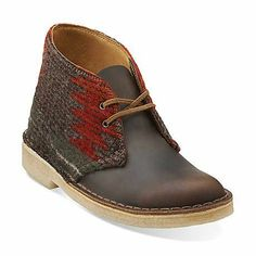 Desert Boot-Women in Woolrich Wool/Beeswax Leather - Womens Boots from Clarks