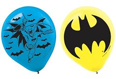 Amscan AMI 111386 Batman Latex Balloons, AMI 111386 1, Mu...