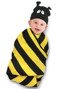 Wrap your little honey in our sweet Beehive Swaddle Blanket & Cap Set! #infant #baby #clothes