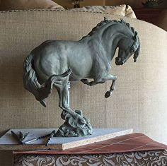 Iberian Ballet Lusitano by Carol Fensholt Roman Sculpture, Pottery Sculpture, Horse Sculpture, Animal Statues, Animal Sculptures, Bryer Horses, Mediums Of Art, Equestrian Decor, Carousel Horses