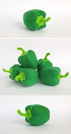 Baby eco gift Pepper green Vegetables set Soft toys by MyFruit