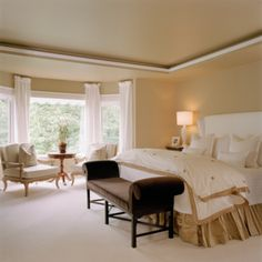 Treatment Ideas For Bay Windows Master Bedroom