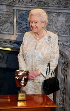 Queen Elizabeth II during the honorary BAFTA event at Windsor Castle on 4 April 2013