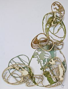 artwork influenced and inspired by coastal elements, pebbles and their shapes, sizes, patterns and markings. Man Vs Nature, Shell Flowers, Paper Art, Paper Crafts, Organic Form, Natural Forms, Wire Art, Public Art, Watercolor And Ink