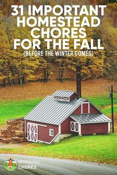 31 Important Things You Should Do This Fall (Before Winter) on Your Homestead