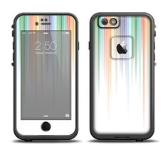 The Faded Pastel Color-Stripes Apple iPhone 6/6s Plus LifeProof Fre Case Skin Set from DesignSkinz