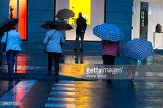 Foto de stock : Madrid shopping rainy day