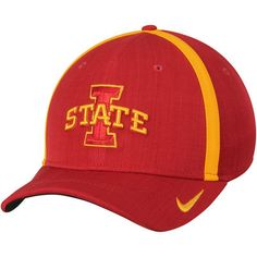info for 42c0d 2d8d1 Men s Nike Cardinal Iowa State Cyclones 2017 AeroBill Sideline Swoosh  Coaches Performance Flex Hat