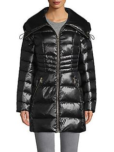 Karl Lagerfeld Paris Packable Quilted Down Puffer Coat off white Size S~NWT~