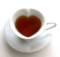 Image detail for -Heart Shaped Tea Cup & Saucer