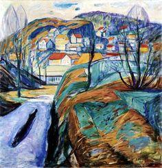 Munch ~ Printemps à Kragero ~ 1921