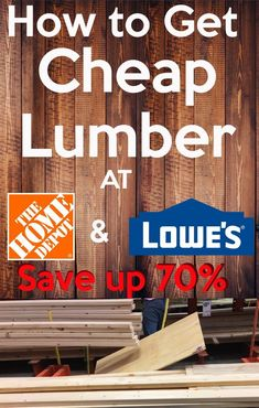 How to get Cheap Lumber At Home Depot and Lowes and Save up If you have a wood project coming up, I am sure you will like to know how to save money on that wood project. I did this and I save a ton of money building my greenhouse and other home proje Home Depot, Easy Craft Projects, Home Projects, Free Lumber, Woodworking Crafts, Woodworking Plans, Learn Woodworking, Build A Greenhouse