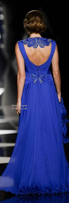 Mireille Dagher Fall Winter Haute Couture royal blue hoco dress / royal blue party dress / blue gown royal / white and royal blue wedding / blue dress royal Pretty Dresses, Blue Dresses, Awesome Dresses, Beautiful Gowns, Beautiful Outfits, Couture Fashion, Runway Fashion, Color Azul Rey, Vestido Dress