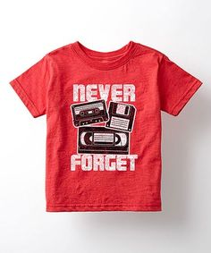 Loving this Heather Red 'Never Forget' Tee - Toddler & Kids on #zulily! #zulilyfinds