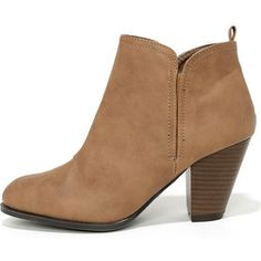 Looking Sharp Taupe High Heel Ankle Boots