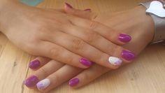 Summer short round nails ♡