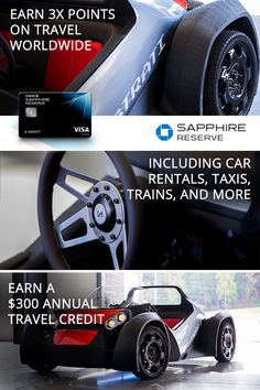 Travel's changing. Carry the only card designed to stay ahead: Chase Sapphire Reserve. Earn 3x points on rental cars, airfare, taxis and trains, along with a $300 annual travel credit to travel on your own terms.
