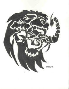 LION EATS SCORPION by mr-ss.deviantart.com on @deviantART