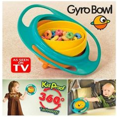 Feeding Cups, Dishes & Utensils Frugal Gyro Bowl Universal 360 Rotate Spill-proof Baby Food Feeding Dinning Bowl