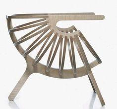 Креативное кресло своими руками из фанеры (чертежи, фото)
