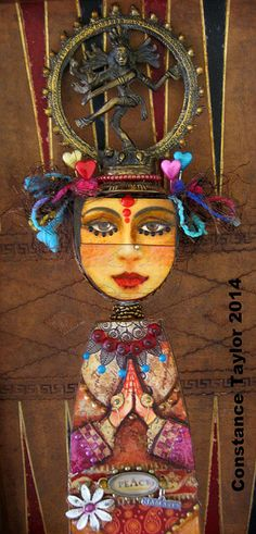 Goddess art doll by constance taylor