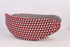 Cat Canoe a Unique Modern Hand Made Kitty Bed in Black White and Red Geometric on Etsy, $29.99