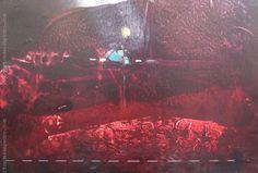 """Vicente Martín """"Abstracto rojo"""" Acrílico sobre fibra  47 x 68 cm. Firmado abajo al centro   http://www.portondesanpedro.com/ver-producto.php?id=12977"""