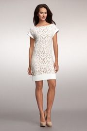 Love this! Contrast Lace Shift from Muse ~ very pretty!