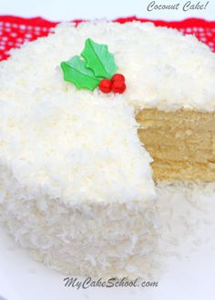You'll love this moist and flavorful scratch Coconut Cake Recipe by MyCakeSchool.com!