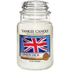"""yankee candle housewarmer jar in the scent """"Union Jack"""". #"""